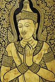Wat Trimit, Bangkok, Thailand. Buddhist ,ancient fine art pictur — Stock Photo