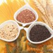 Stock Photo: Pastand rice ,group of carbohydrate products