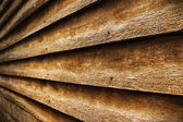 Vintage teak wood wall for background — Stock Photo