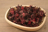Dried roselle (Hibiscus sabdariffa) or rosella fruit — Photo