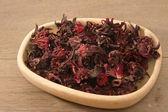 Dried roselle (Hibiscus sabdariffa) or rosella fruit — Foto de Stock