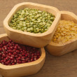 Stock Photo: Different kinds of bean,soy be,mung beand azuki bean
