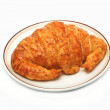Tasty whole wheat croissant — Stock Photo