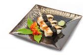úhoře sushi. izolované na bílém — Stock fotografie
