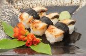 Nigiri sushi with eel — Stock Photo