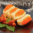Stock Photo: Sushi,japanese food display on dish
