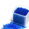 Blue silica gel  moisture adsorbing — Stock Photo