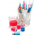 Medical bottles, ampoule, syringe and pills , Medical concept — Stock Photo #29617361