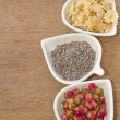 Assortment of dried flower tea — Stock Photo #30309969