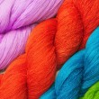 Colorful raw thread background — Stock Photo