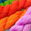 Stock Photo: Colorful raw thread background