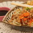 Stock Photo: Rice noodle crepe with shrimp &