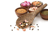 Thai seasoning ,dried herbs and spices — Stock Photo