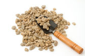 Pumice pebbles ( lightweight volcanic rock ) and shovel — Foto de Stock