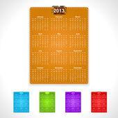 дизайн календаря минималистском 2013 — Cтоковый вектор