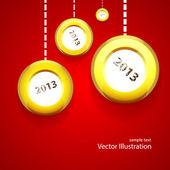 Illustration Christmas balls — Stock Vector