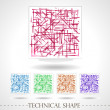 Technical shape — Stock Vector
