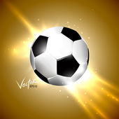 Soccer design background, glowing — Stock Vector