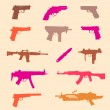 Stock Vector: Set of weapons, seamless