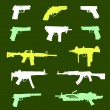Stock Vector: Weapons. Seamless.