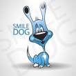 Smile Dog. Noce illustration — Stock Vector
