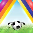 Abstract background with Soccer balls — Stok Vektör #23988421