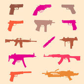 Set of weapons, seamless — Stock Vector