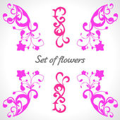Set of flowers for design or pattern — Stock Vector