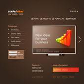 Snygg modern vektor webbdesign, mall, med banner design och 3d grafik — Stockvektor