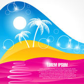 Abstract palms background — Stock Vector