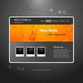 Web Design template. Music topic — Stock Vector
