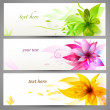Flower vector background brochure template, set of banners — Stock Vector #24016527