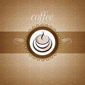Coffee cup, background, pattern — Stock Vector