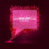 Summer bbuble for speech. Pink. Trendy shape — Stock Vector