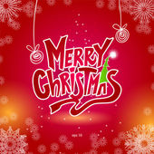 Christmas Greeting Card. Lettering, vector illustration — Vector de stock