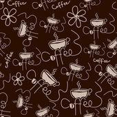 Patrón de semless café marrón — Vector de stock