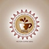 Coffee shop menu — Stock Vector