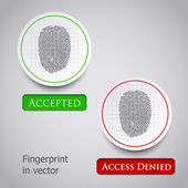 Fingerprint scanning — Stock Vector
