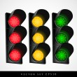 Set of traffic light — Stock Vector #29499713