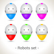Robots SET, colorful — Stock Vector
