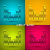 Equalizer in vector — Stock Vector