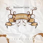 Restaurant menu. Trendy style — Stock Vector