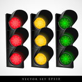 Set of traffic light — Stock Vector