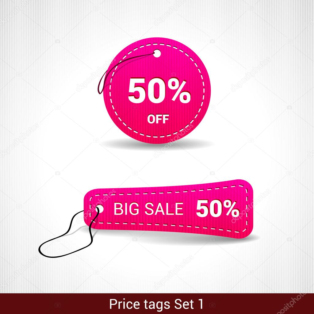 minus bags - Set of 3D Price tags number ONE \u2014 Stock Vector ? dannyrash #29499195