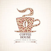 Café-restaurant menu. forme de tasse de café. vector — Vecteur