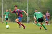 Kaposvar - Videoton under 18 soccer game — Stock Photo