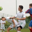 Kaposvar - Videoton under 18 soccer game — Foto de Stock