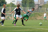 Kaposvar - Szekszard under 15 soccer game — Stock Photo