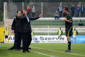 Kaposvar - Ujpest soccer game — Stock Photo