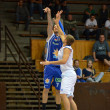 Kaposvar - Zalaegerszeg friendly basketball game — ストック写真